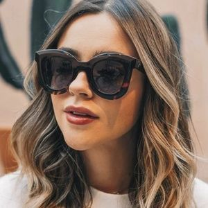 Accessories - New Black and Leopard Oversized Cat Eye Sunglasses